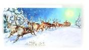 Mini Advent Calendar Christmas Card - Santa Is Coming - Winter Wonderland