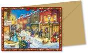Mini Advent Calendar Christmas Card - Charles Dickens Christmas World