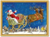 Mini Advent Calendar Christmas Card - Christmas Magic - Santa Sleigh