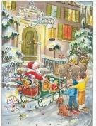 Santa Sleigh Christmas Advent Calendar With Envelope