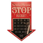 Anker Blackboard Days To Christmas Countdown Plaque - Santa Stop Here Arrow