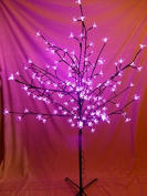 Light Up 1.2m 4ft Pink Christmas Blossom Tree Decoration With Led Lights