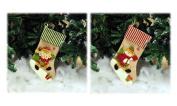 Hessian Stocking Christmas Xmas Present Santa Or Snowman