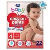 boots baby easy on potty training pants size 4 maxi 1 x 22
