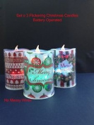 Colour Changing Flickering Christmas Candle