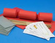 8 Mini Rose Red Make & Fill Your Own Cracker Making Craft Kit