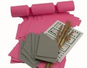 8 Mini Rose Pink Make & Fill Your Own Cracker Making Craft Kit