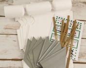 8 Mini Textured White Make & Fill Your Own Cracker Making Craft Kit