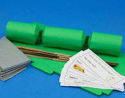 8 Mini Emerald Green Make & Fill Your Own Cracker Making Craft Kit