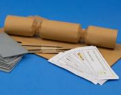 8 Mini Tan Brown Make & Fill Your Own Cracker Making Craft Kit