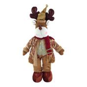 Gold Standing Reindeer 58cm Christmas Decoration Rudolph Ornament Figure Xmas