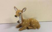 New Faux Fur Reindeer Figure 17cm Sitting Doe Christmas Decoration