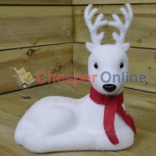 30cm Indoor Christmas Snow Animal Statue Decoration - Reindeer