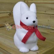 30cm Indoor Christmas Snow Animal Statue Decoration - Squirrel