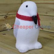 30cm Indoor Christmas Snow Animal Statue Decoration - Penguin