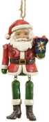 Heartwood Creek Santa With Dangling Arms Hanging Ornament, Red