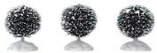 Lemax Christmas Round Bristle Tree Set Of Three Mini