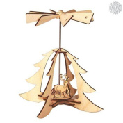 Damasu Bs_py07 Christmas Pyramid Decoration Kit For Self-assembly Forest Scene [