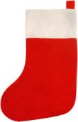 Red & White Traditional Felt Christmas Stocking (41cm) - Xmas Filler