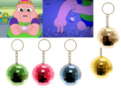 Disco Ball Keyring Clarence Boys Girls Birthday Party Bag Fillers Favour