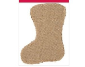 4 Small Jute Or Hessian Fillable Christmas Stockings For Crafts