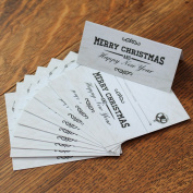 Distressed White Merry Christmas Place Card Setting X 10 Table Signs