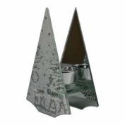 Christmas Glass Candle Holder Reindeer Design