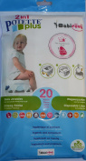 Potette Plus Pack of 20 Disposable Travel Potty Refills