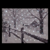 "Fibre Optic Christmas Canvas Scene - ""country House"""