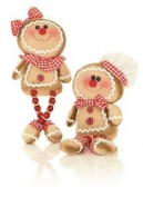 *35cm Bead Leg Gingerbread Shelf Sitter Couple Boy And Girl Kitchen Decoration*