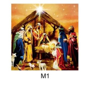 40 x 40cm Canvas Nativity Scene With LED Lights