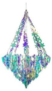 Festive Productions Holographic Icicle Chandelier, White