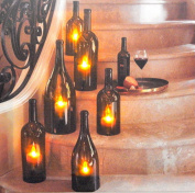 Canvas With Led Lights Design Candles In Bottles 6led Picture - Tinas Collection
