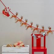 Festive Reindeer & Santa Sleigh Paper Bunting X 2m