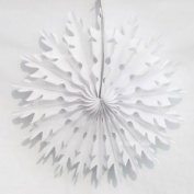 Honeycomb Christmas Decorations - 2 X 35cm Snowflakes