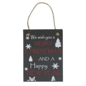 Lesser & Pavey Slate Christmas Plaque Merry Xmas & Happy New Year