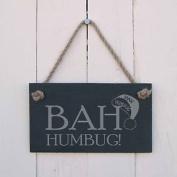 """Christmas Slate Hanging Sign - """"bah Humbug!""""-a Fun Present For Christmas"""
