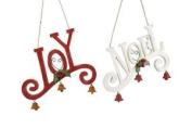 Hanging Wooden 'joy' And 'noel' Signs