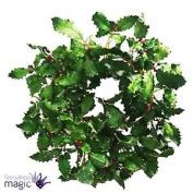 Gisela Graham Festive Holly Christmas Xmas Heart Wreath With Berries Decoration
