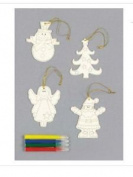 Colour Your Own Christmas Decorations