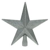 Glitter Star Christmas Tree Topper - Silver
