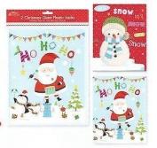 2 Giant Plastic Sacks - Santa/snowman