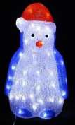 Christmas Decoration Led Acrylic Penguin Indoor Mains Operated 40cm Xmas