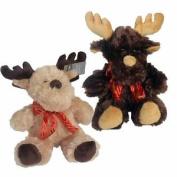 Valentine's 25cm Reindeer Soft Toy - Brown Or Cream - Sent At Random