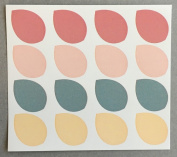 16 pieces of additional seal (coral pink) for the original wedding tree 1 sheets