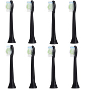 8 pack DiamondClean Black Replacement Heads Compatible with Philips Sonicare Electric Toothbrush Handles. Fully Compatible With DiamondClean, FlexCare Platinum, FlexCare+, HealthyWhite, HealthyWhite+, Sonicare 2 Series, Sonicare 3 Series, PowerUp. Repl ..