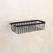 TRRE@ Black Bronze Antique Baskets Shelves Bathroom Shelves,30*13cm Bathroom Shelf