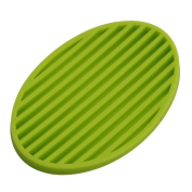 Gluckliy Practical Silicone Home Bathroom Soap Dish Plate Soap Tray Storage Holder