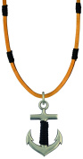 Bico Raw Anchor Pendant & Brown Leather Necklace (RA2P3B) - stable and strong foundations