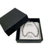 NANHONG Dainty Jewellery Beaded Charm Bracelet in 925 Sterling silver Round Beads Hand Catenary with Gift Box